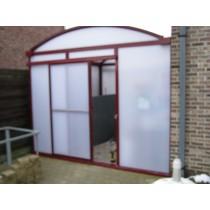 Standaard schuifdeur voor carport in polycarbonaat