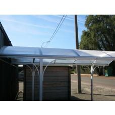 Carport Comfort Line lengte 485 cm x breedte 300cm, blank aluminium