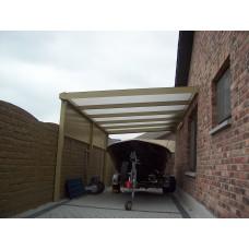 Rechte carport L400xB350
