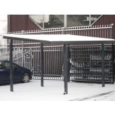 Rechte carport L400xB400
