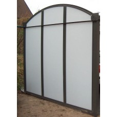 Standaard wandmodule 4 meter boogzijde voor carport in polycarbonaat